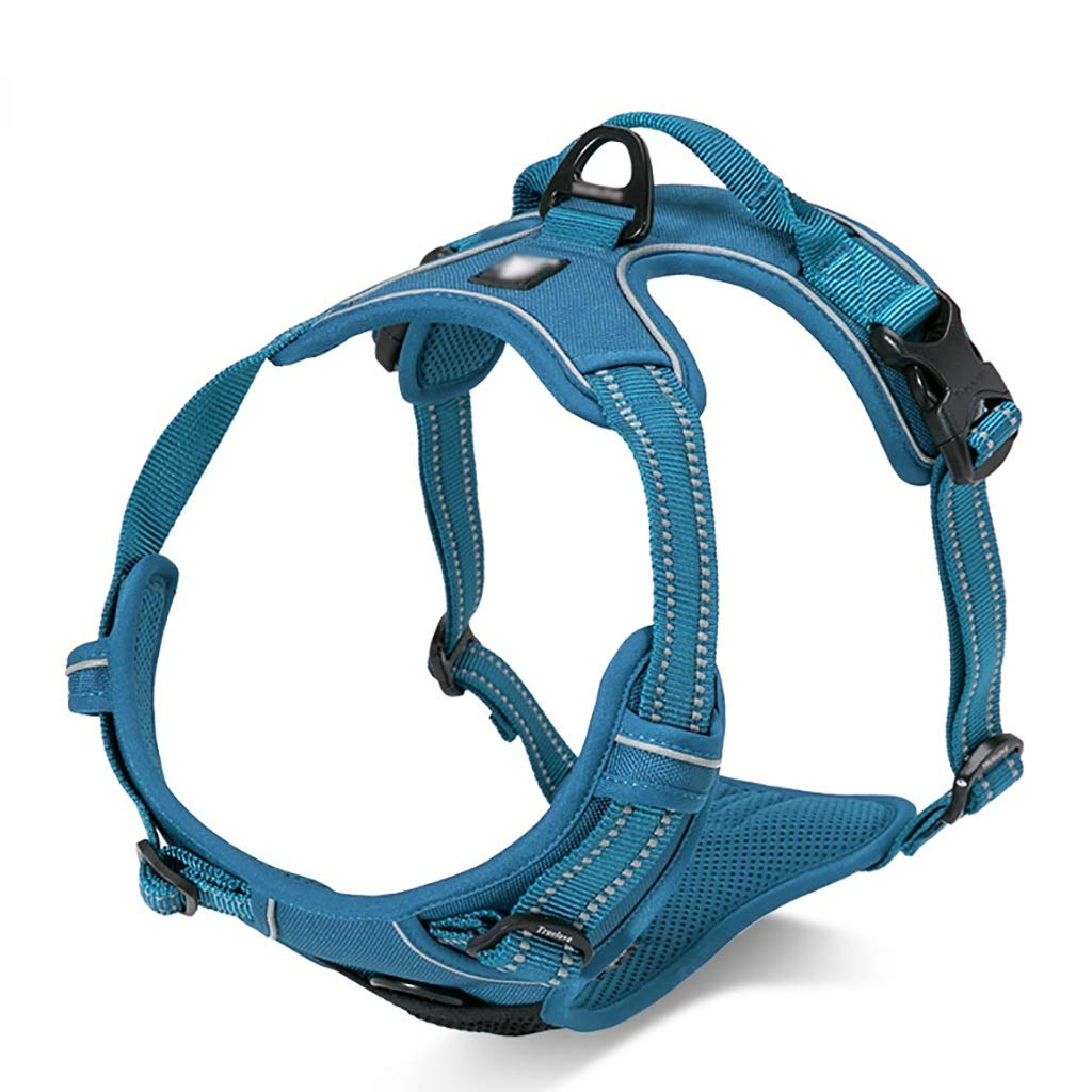 Pet chest strap traction rope chest back adjustable vest-style adjustable reflective strips soft comfortable sturdy durable (color   E, Size   XS 33-43CM)