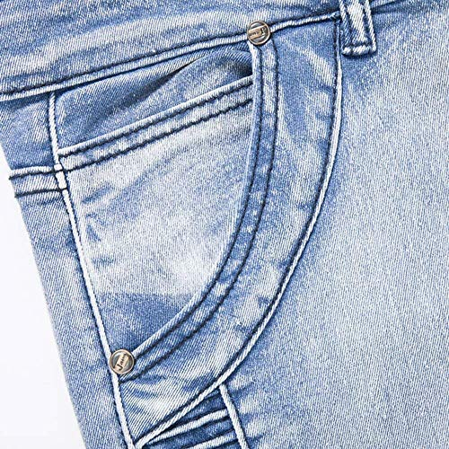 Pantaloni Jeggings Casual Skinny Da Hellblau Slim Denim Sportivi Fit Classiche Ragazzi Retrò Uomo rxprqC