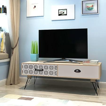 Chevet Table MDF 35 Festnight 100 x de Design x CM Scandinavee Banc Meuble TV 40 en kZOXiPuT