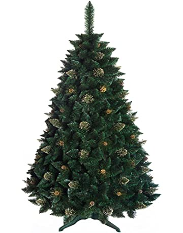 DWA ARBOL Navidad Grande Pino de Oro con Cristales, Caja, Bosque Tradicional Verde Lujo