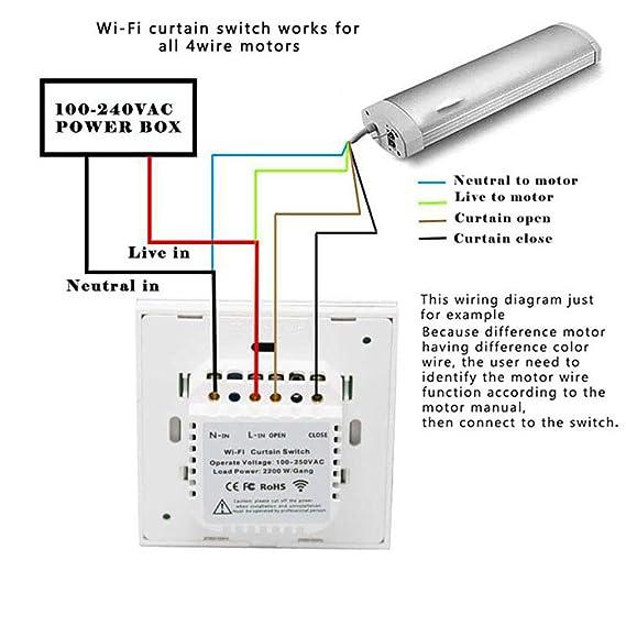 Rolladenschalter, Orville Erweiterte 2.4Ghz Wifi Curtain Switch arbeitet on