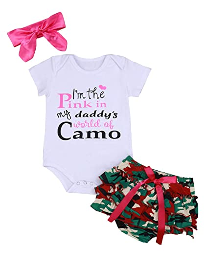 Infant Baby Girl Clothes Daddy\'s Girl Jumpsuit Newborn Floral Shorts Summer  Romper Bodysuit Father\'s Days Outfits