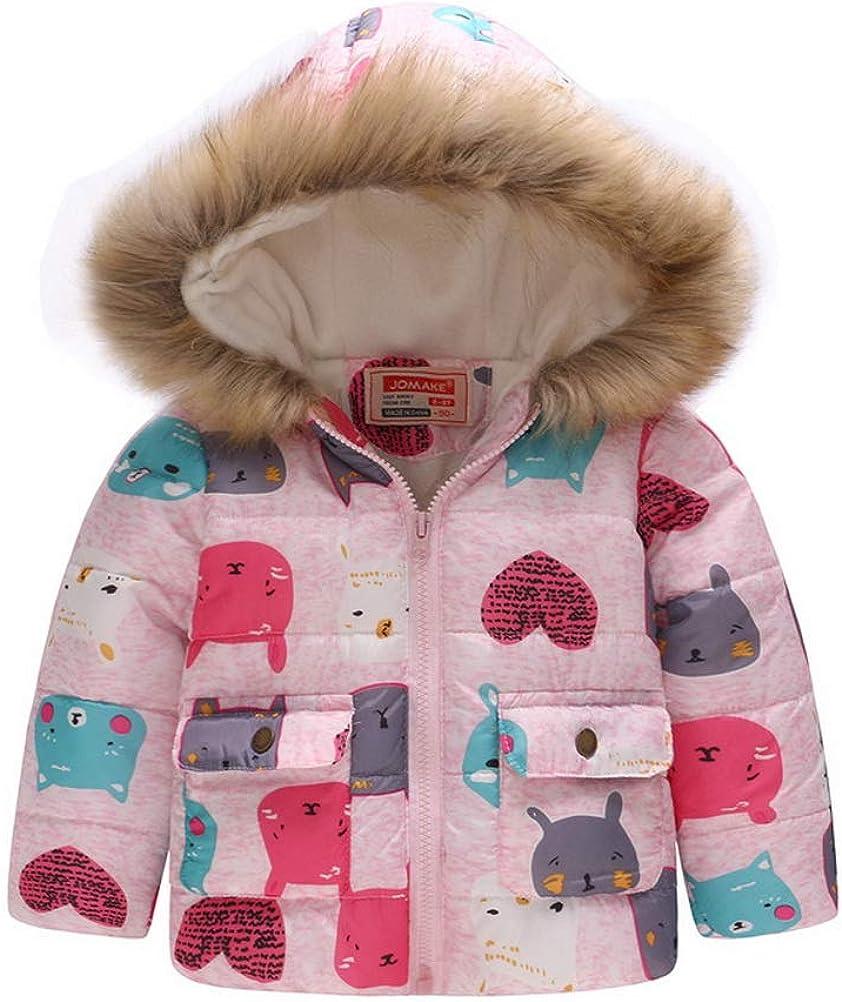 ARAUS Cappotto con Cappuccio da Neonato Zip Up Piumino Impermeabile Stampato Collo MAO Incappucciato Inverno 0-7 Anni