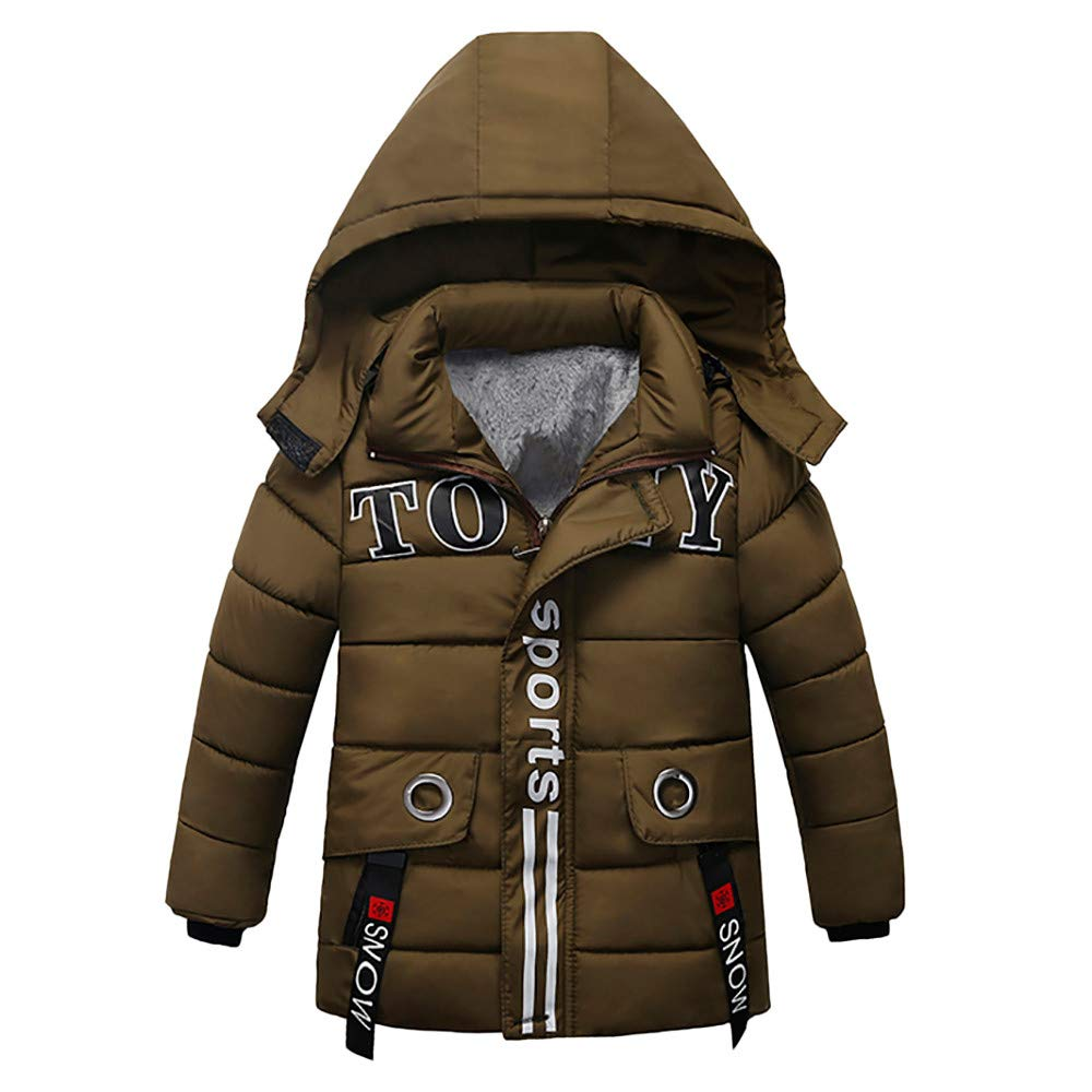 Lavany Little Baby Boys Girls Winter Clothes Sports Thick Padded Hoodie Coat Jacket