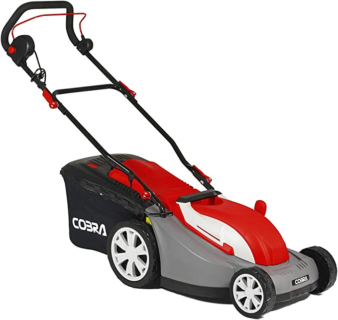 Cobra GTRM34 34cm Electric Lawnmower with Rear Roller - Seven Cutting Heights