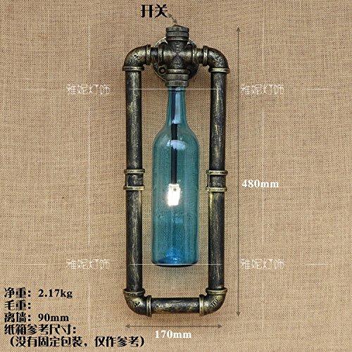 ... La Industria Del Hierro Creativo Americano Retro Bar-Cafetería Decorada En Botellas De Agua Personalizada I, (Azul Botellas: Amazon.es: Iluminación