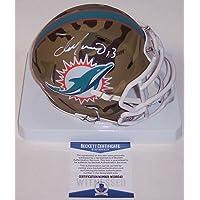 $399 » Dan Marino Autographed Hand Signed Miami Dolphins Camo Speed Mini Football Helmet - BAS Beckett Authentication