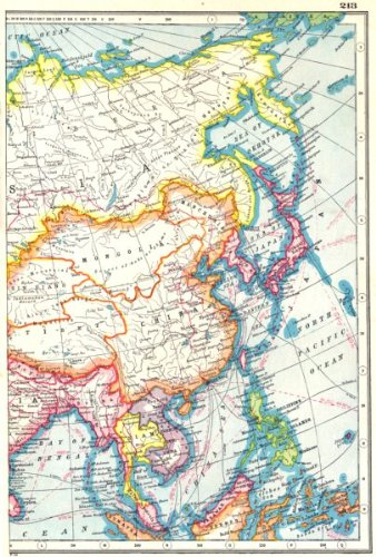 Map Of Asia In French.Amazon Com East Asia China Philippines Japan Korea Siam French