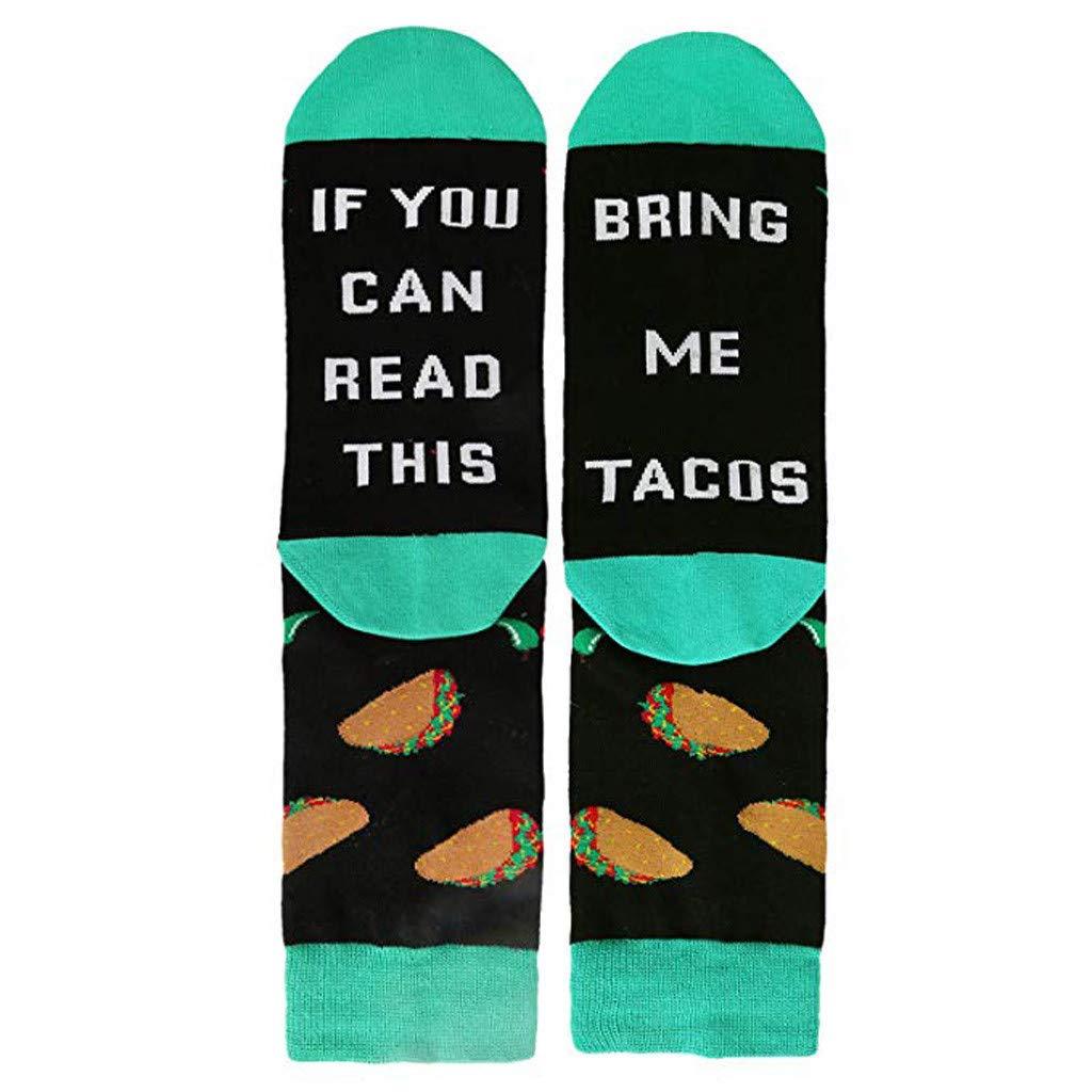 Funny Socks for Men,Yamally Unisex Novelty Funny Saying Crew Socks If You Can Read This Socks Comfortable Socks