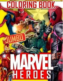 MARVEL Heroes JUMBO Coloring Book Avengers Guardians Of The Galaxy Spiderman Deadpool