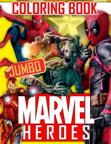 Pdf Crafts MARVEL Heroes JUMBO Coloring Book: Avengers, Guardians of the Galaxy, Spiderman, Deadpool, Antman, Black Panther, Ironman, Captain of America, Hulk. Raccoon, Gamora, Drax, Thanos, Dr. Strange