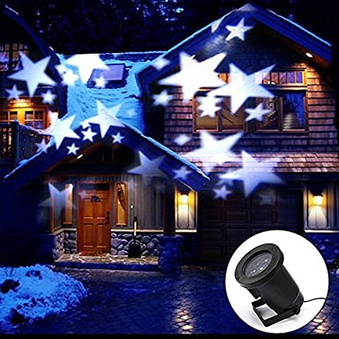 Holidays Landscape Lights Projectors, Hosyo Waterproof Outdoor LED Motive Stars Landscape Projectors Lamps Lights for Christmas, Garden, Tree, Wall, Party, Holidays Lighting Decoration(Pure White)