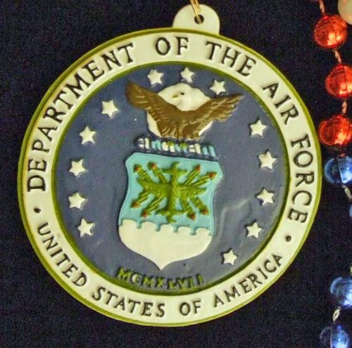 Air Force Medallion Mardi Gras Bead Necklace Orleans