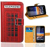 Vodafone Smart 4 Mini Case, FoneExpert® Premium Leather Flip Wallet Bag Case Cover For Vodafone Smart 4 Mini