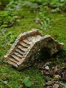 IFEVER - Puente en Miniatura para jardín de Hadas y terrario, diseño de Puente de Piedra de Cobalto: Amazon.es: Jardín