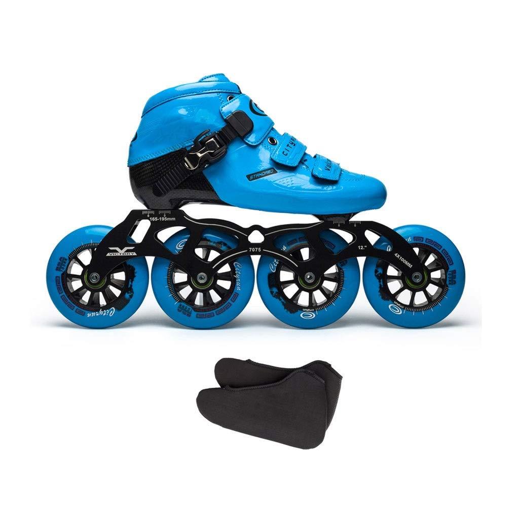 Ailj インラインスケート カーボンファイバースケート 子供用大人用単列スケート靴 4X110MMホイール 3色 色 : メイルオーダー 市販 C サイズ さいず EU 34 3 13.5 UK 12.5 22cm B07QBMM9G4 20.5 31 US JP 2