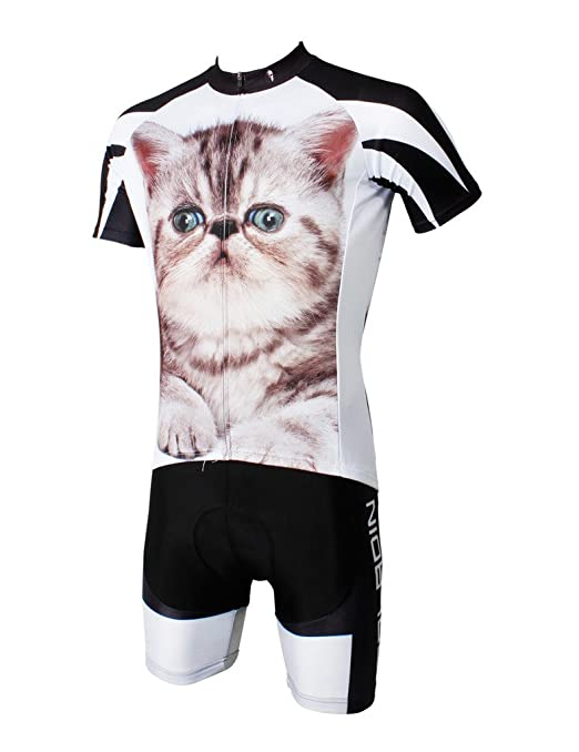 Amazon.com   LAOYOU Fat Cat Mens Bike Clothes Bike Jersey Bike Apparel  Bicycle Clothing Cycling Apparel Bicycle Apparel Riding Clothing Cycling  Jersey Size ... 9ae7429c3