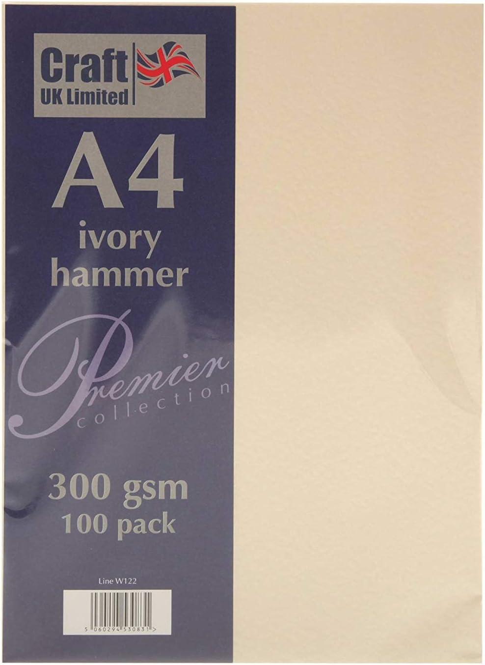 Craft UK W122/A4/martellato di colore avorio confezione da 100/fogli