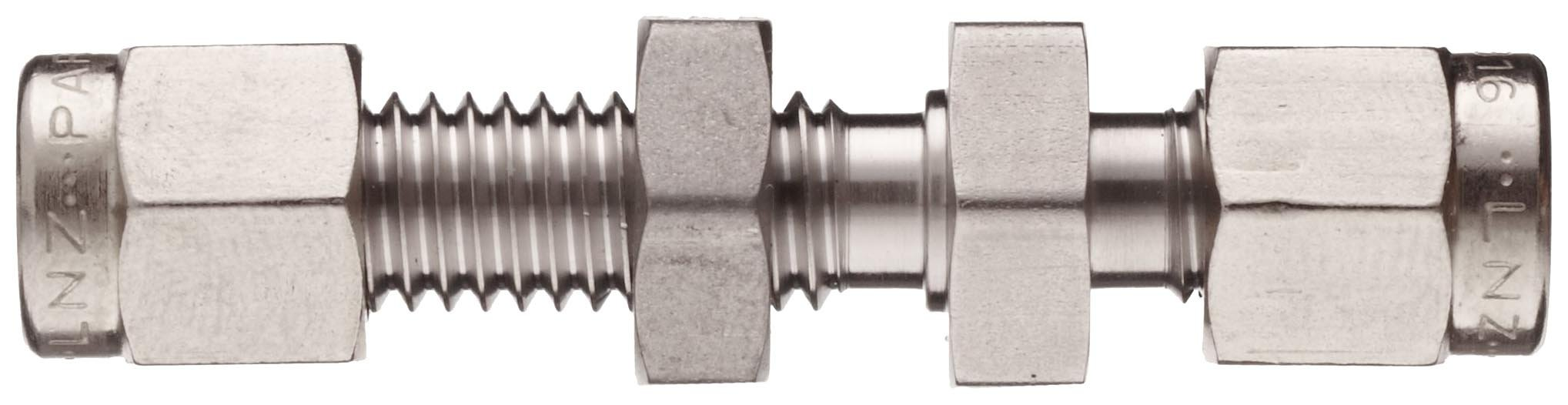 Parker A-Lok 4BC4-316 316 Stainless Steel Compression Tube Fitting, Bulkhead Union, 1/4'' Tube OD by Parker (Image #3)
