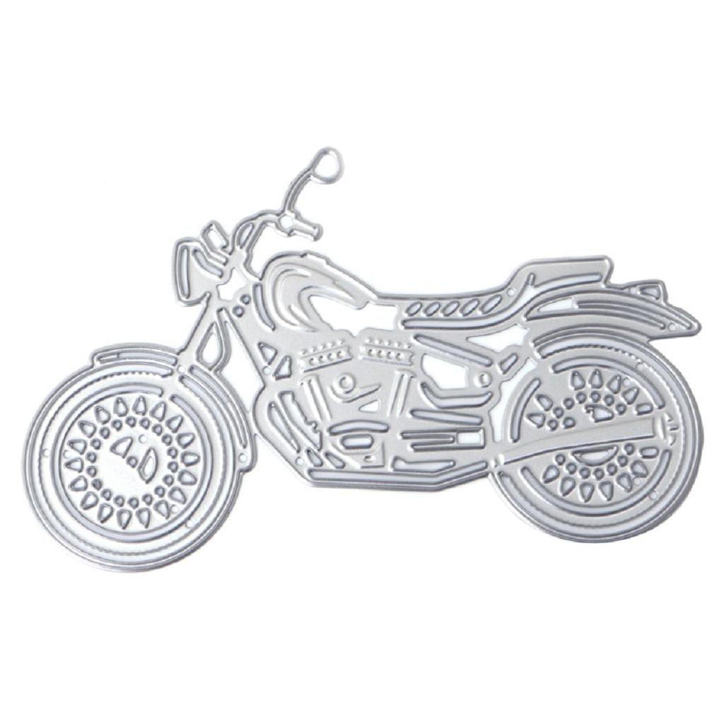 /álbum de recortes repujado tarjeta de papel Kimruida Plantilla de metal para troquelado de motocicleta