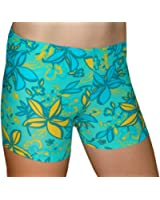 Tuga Juniors'/Women's Spandex Shorts, 6 Inch Inseam, Groovy Print