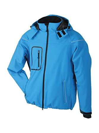James & Nicholson JN1000 Mens Winter Hooded Softshell Jacket at Amazon  Men's Clothing store: