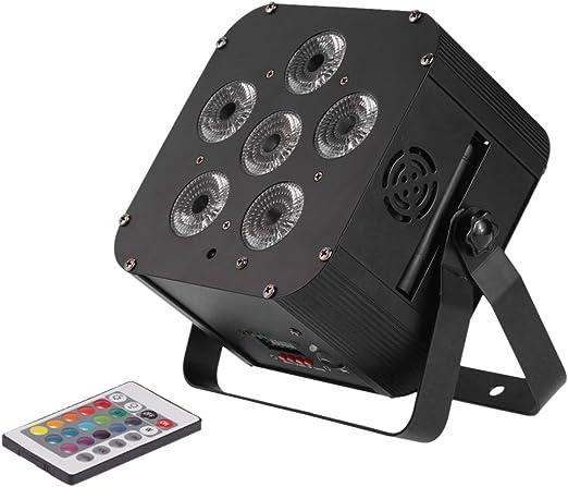 docooler 6 x 18 W LED RGB proyector LED DMX WAP 6/10 canal par luz ...