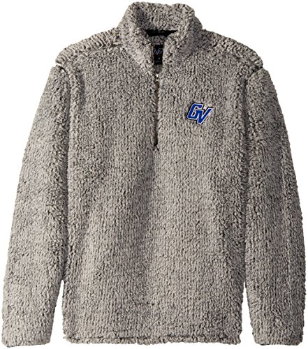 University State Grand Valley - NCAA Grand Valley State University Adult Men Owen 1/4 Zip Heather Sherpa Pullover, XX-Large, Black