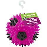 "Gnawsome 3.5"" Squeak & Light Soccer Ball Dog Toy - Medium, Cleans Teeth and Promotes Dental and Gum Health for Your Pet…"