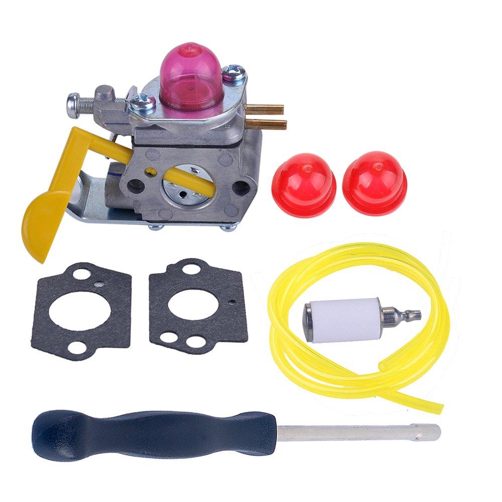 Savior C1U-W18 Carburetor with Adjustment Tool Kit for Poulan Weed Eater Featherlite FL20 FL20C FL25C FL26 FX26S FX26SC FX265 XT260 SST25 SST25C String Trimmer 530071752 530071822 545081808 530071750