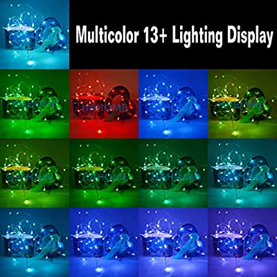 HAHOME Fairy String Lights, 20Ft 60 LEDs Battery Operated Lights Multi Color Changing String Lights with Remote Control for Bedroom Patio Garden Christmas Tree