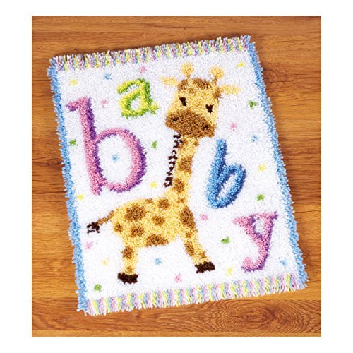 Vervaco Latch Hook: Rug: Baby Giraffe II