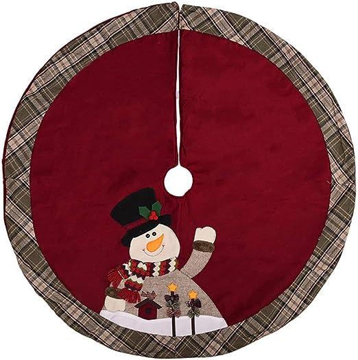 LouiseEvel215 Nuevos Adornos navideños Falda de árbol de Navidad ...