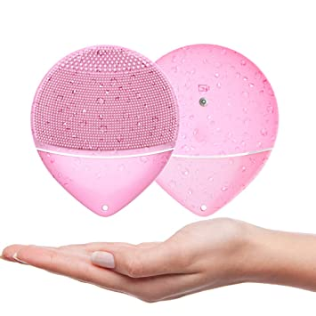 Amazon Com Silicone Facial Cleansing Brush Macaron Style Sonic
