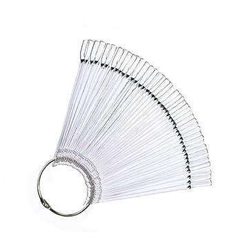 Amazon 50pcs False Display Nail Art Fan Wheel Polish Practice