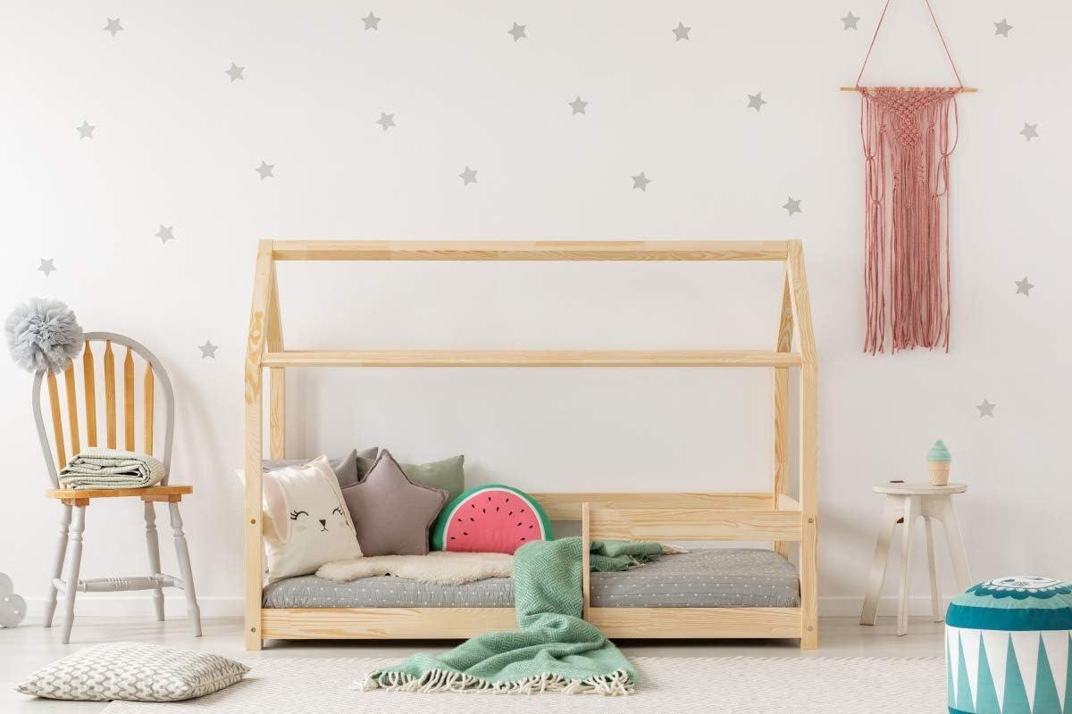 Cama infantil de madera de 120 x 190 cm con cajón y somier ...