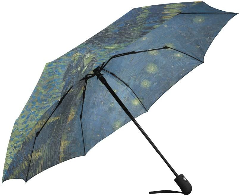 Starry Night By Vincent Van Gog Automatic Foldable Umbrella