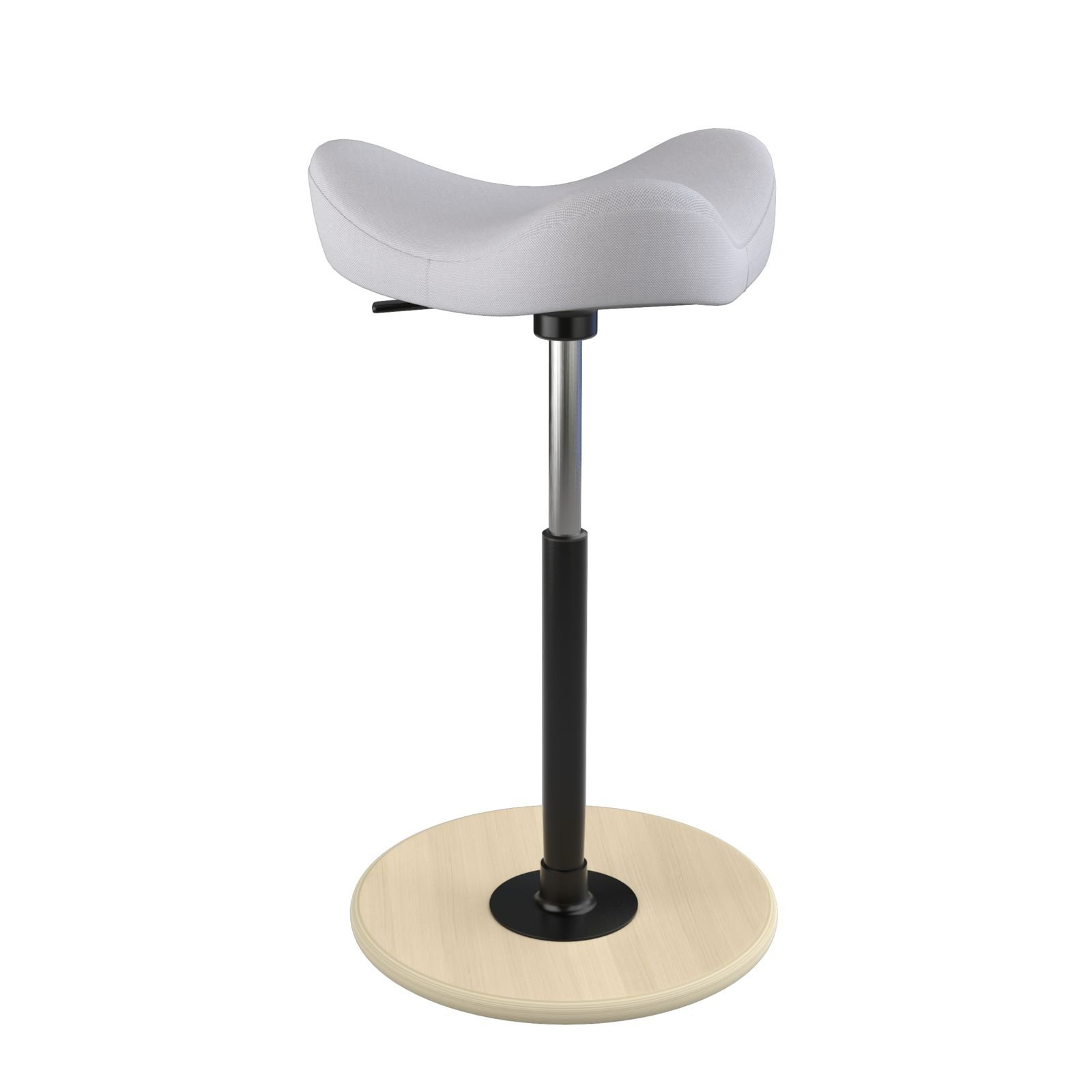 Varier Move Tilting Saddle Stool (Light Grey Revive Fabric with Natural Ash Base)