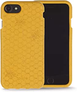 Pela: iPhone Case for iPhone 6/6s/7/8/NEW SE: Eco-Friendly - 100% Biodegradable (6/6s/7/8 Honey Bee)