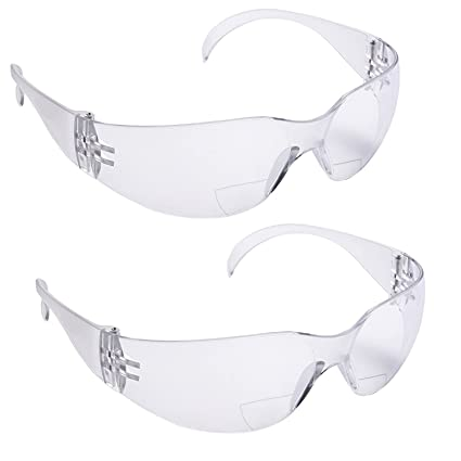 1643f5d3ef4ff Amazon.com  2 Pairs Bifocal Protective Safety Glasses Reading Lens ...