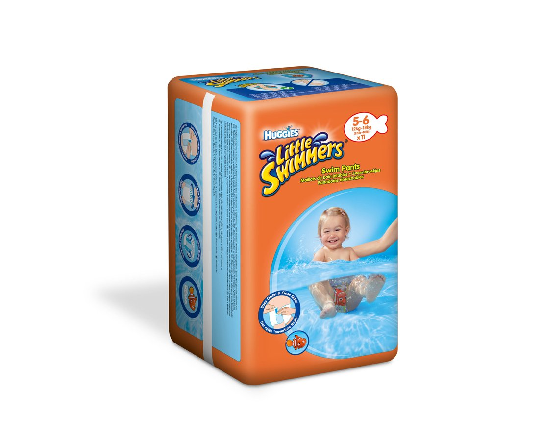 Huggies? Little Swimmers? Size 5 11-18kg, 24-40lb x 11 Swim Nappies 81024
