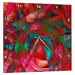 3dRose USA, Tall Trees, Red Roses, Artistic Abstract - Na01 Dsn0000 - Deborah Sandidge - Wall Clock, 15 by 15-Inch (DPP_83404_3)