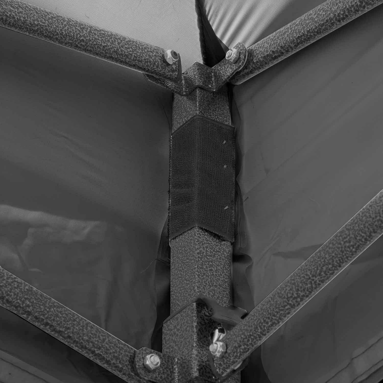 apertura a scatto impermeabile con 4 Pannelli Laterali bianco Esc ltd Gazebo 2 x 2m