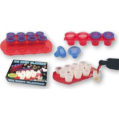 Dakota Set de 2 moldes para 12 vasos de chupito de hielo. Total 24 chupitos: Juguetes y juegos
