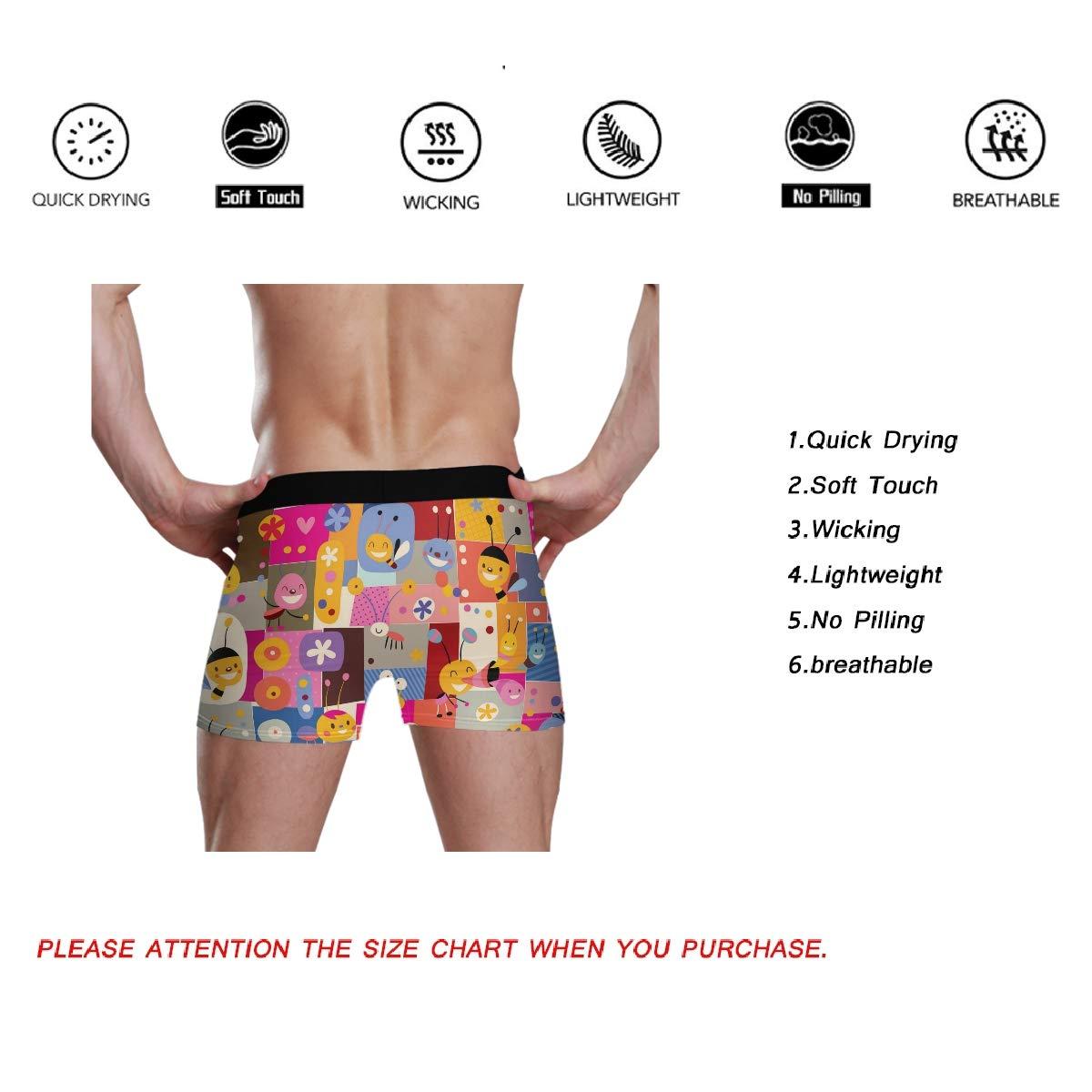 CaTaKu Animal Zoo Tartan Chic Mens Boxer Briefs Underwear S-XL