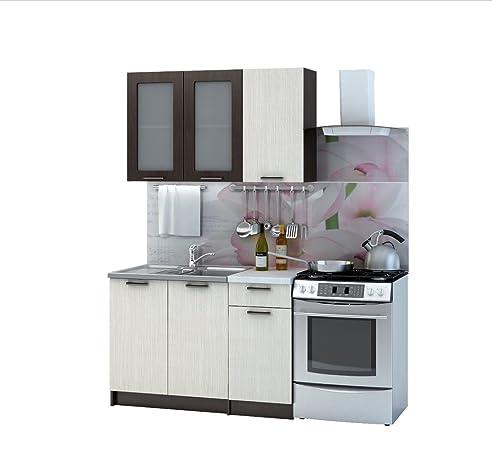 Küche Riviera 120 Cm Küchenzeile Einbauküche Küchenblock