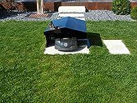 Rasenroboter Garage in 3 Farben und 2 Größen (Schwarz, groß Massiv 6mm)