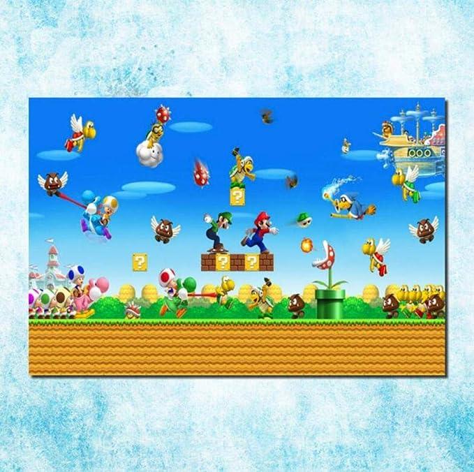 GHKNB Impresiones sobre Lienzo 1 Pieza Juego De Super Mario ...
