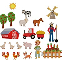 Farm Animals Felt Flannel Boards Stories Precut Figures for Toddlers Preschool, Craft Toy Gifts for Kids as Storytelling…