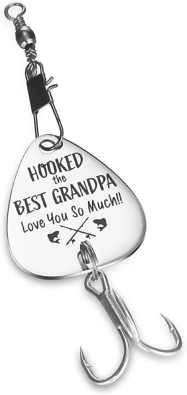 CJ&M abuelo idea de regalo – anzuelo de pesca con anzuelo el mejor abuelo – Día del Padre, mejor abuelo, regalo para abuelo, pesca, Navidad, cumpleaños, anzuelo de pesca
